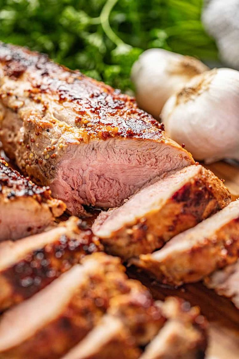Honey Dijon Garlic Roasted Pork Tenderloin - Recipe Pork Dijon