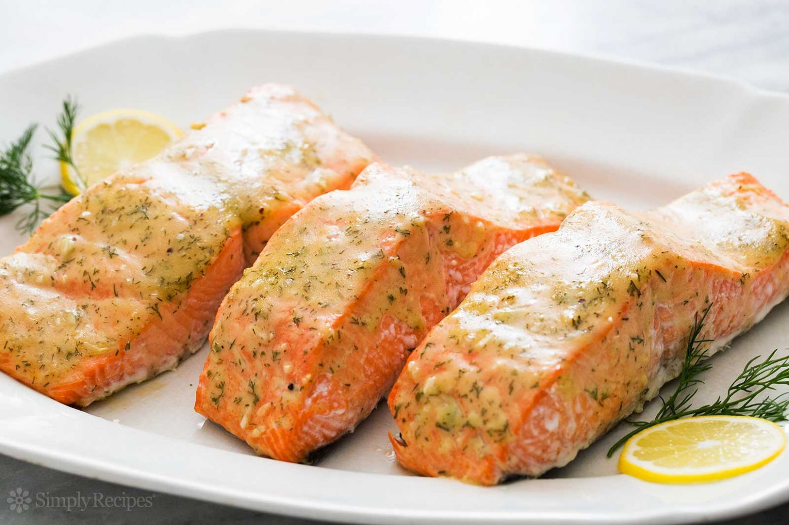 Honey Mustard Baked Salmon - Recipes Cooking Salmon Fillets