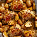 Honey Mustard Chicken & Potatoes (ONE PAN) – Recipes Potato Chicken