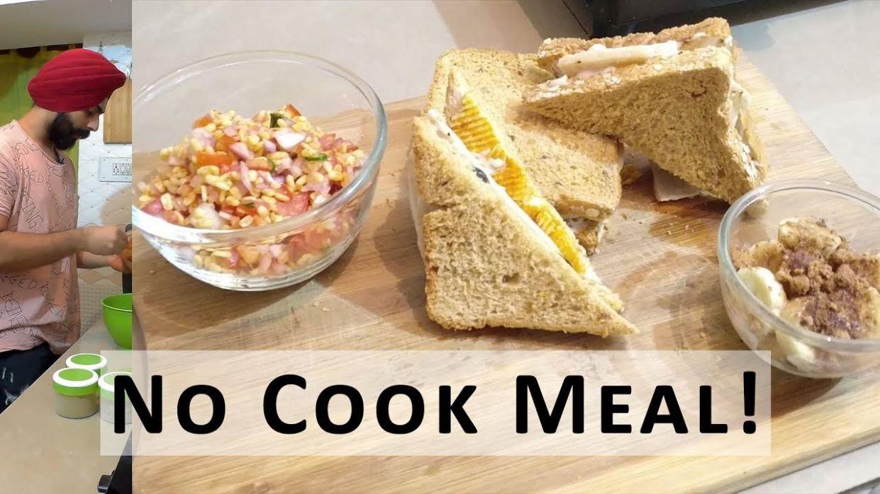 Hostel Food Hacks - 12 Course Meal that needs NO COOKING - No cook recipes - Recipes No Cooking