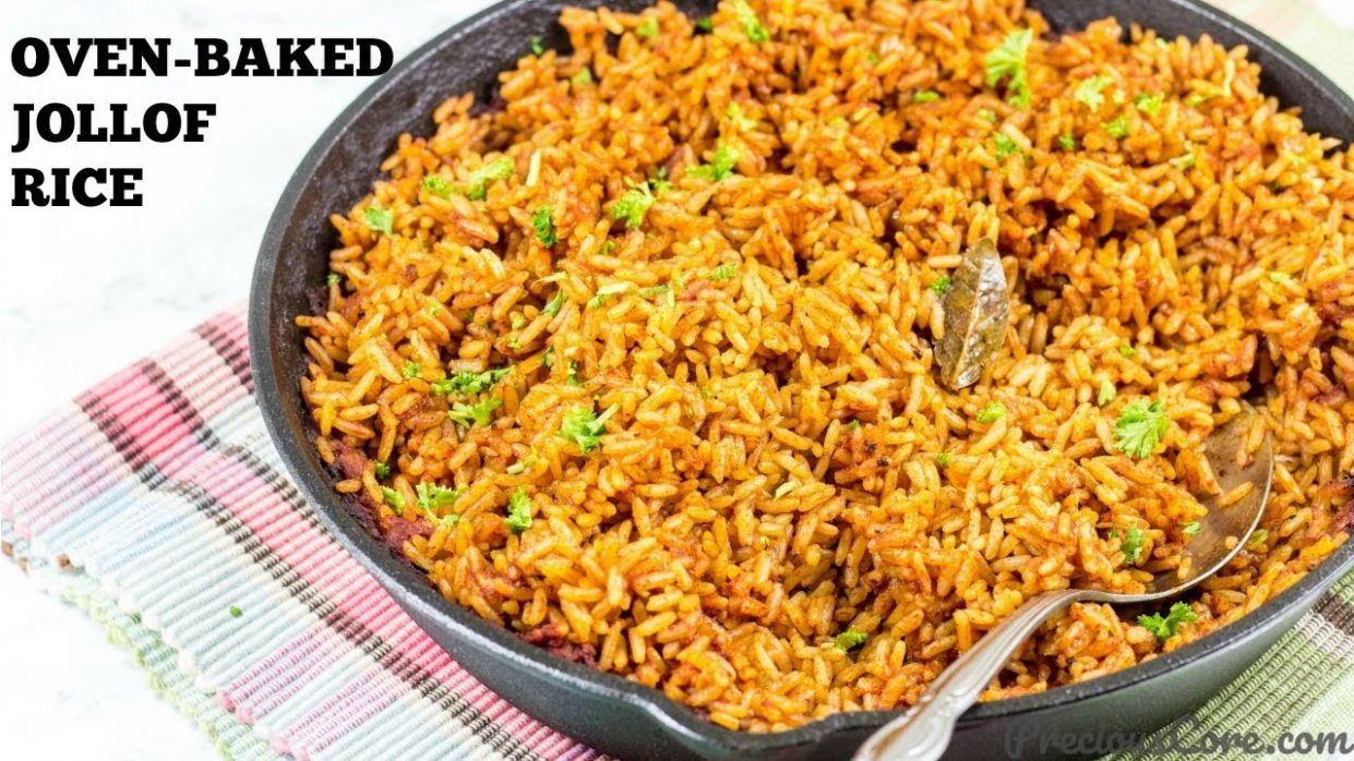 HOW TO COOK JOLLOF RICE IN THE OVEN   Precious Core - Recipes For Cooking Jollof Rice