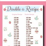 How To Double A Recipe – Easy Tips And A Free Printable Chart – Healthy Recipes Printable