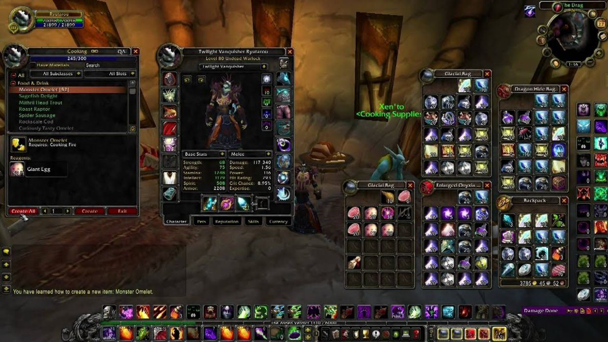 How to Easily Level Cooking 8-8 in the World of Warcraft! - Recipes Cooking Wow 3.3