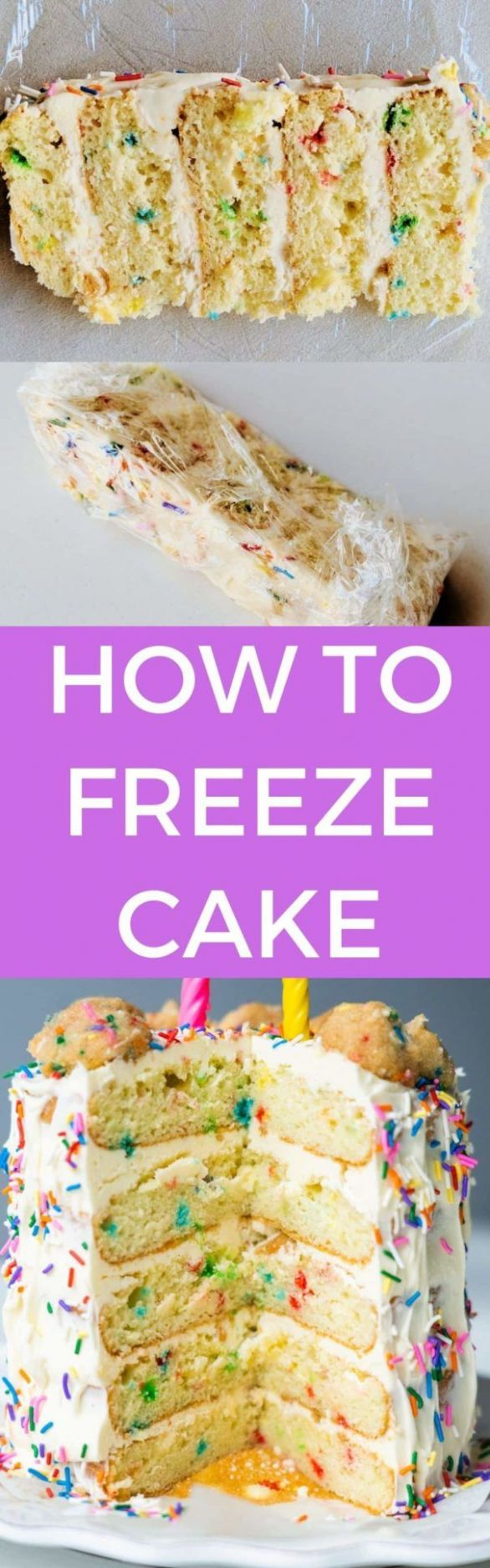 How To Freeze Cake - Easy Step by Step Directions - Cake Recipes You Can Freeze