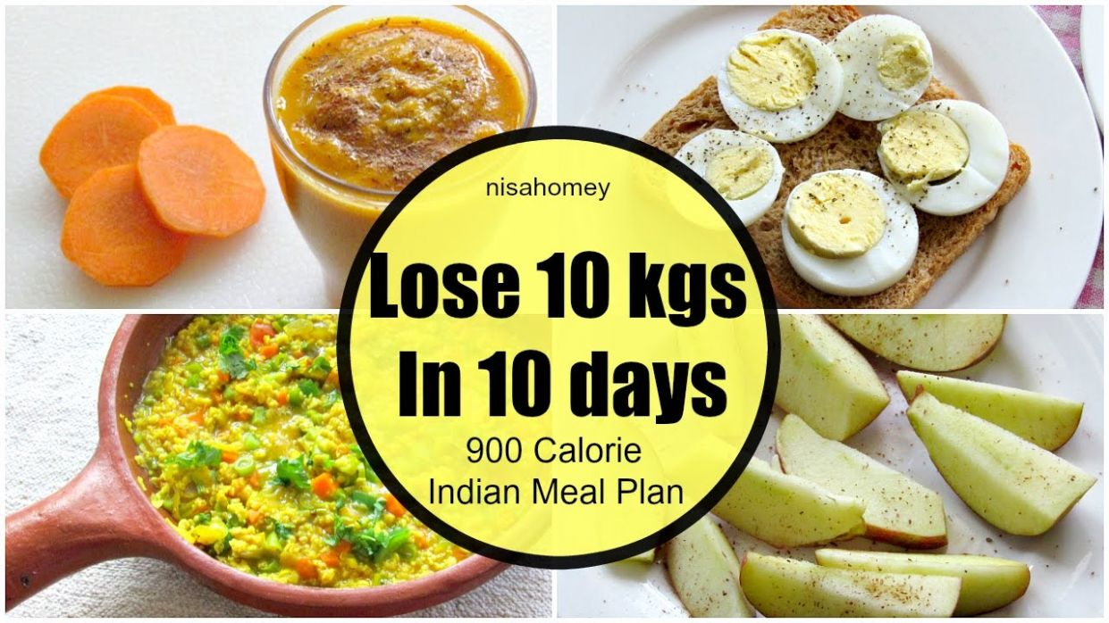 How To Lose Weight Fast 10 kgs in 10 Days - Full Day Indian Diet/Meal Plan  For Weight Loss - Recipes For Weight Loss Fast