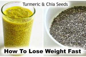 How To Lose Weight Fast With Turmeric & Chia Seeds - 10 kg - Golden Milk  Chia Pudding - Turmeric Milk