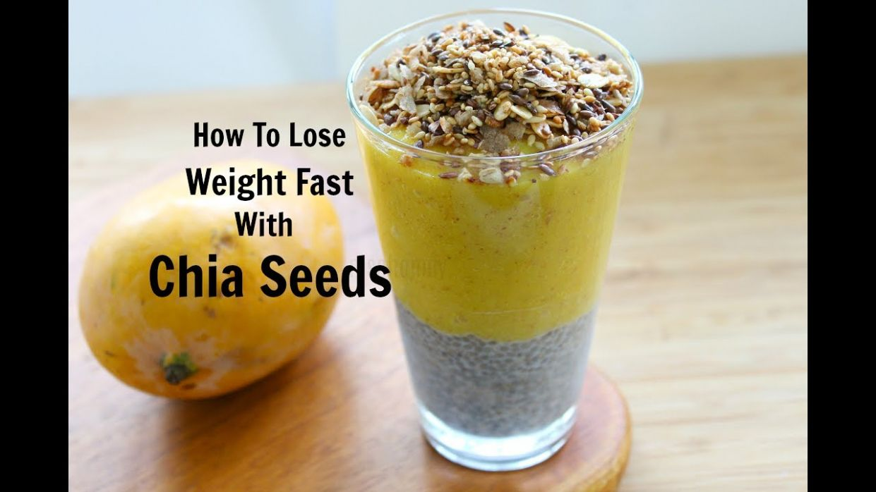 How To Lose Weight With Chia Seeds - 11 kg - Chia Seed Pudding Smoothie - Recipe For Weight Loss Using Chia Seeds