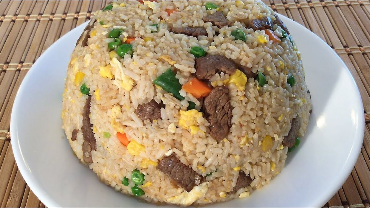 How To Make Beef Fried Rice-Chinese Restaurant Food Recipes - Recipes Beef Fried Rice