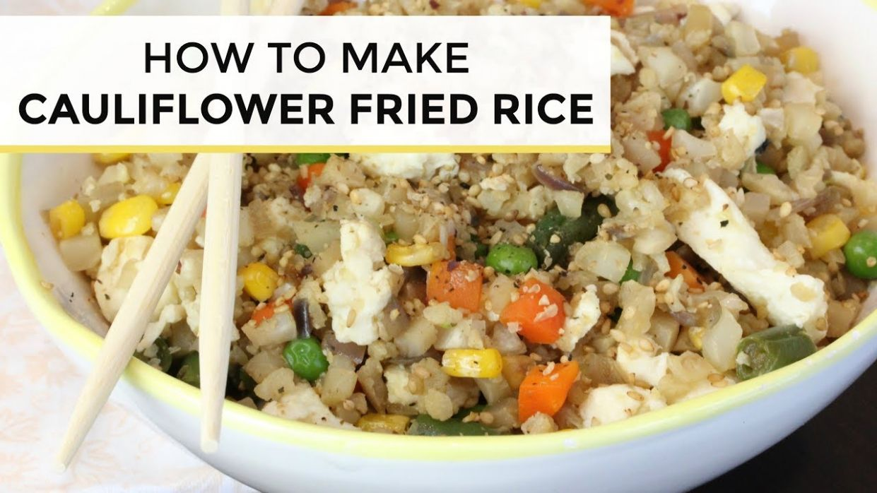 How To Make Cauliflower Fried Rice | Cauliflower Fried Rice Recipe - Cauliflower Rice Recipes Youtube