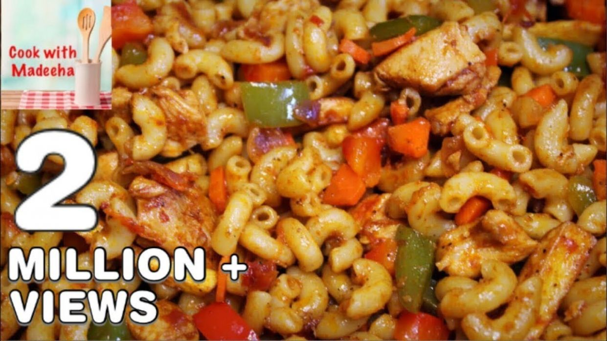 How To Make Chicken Macaroni -Quick and Delicious Macaroni Recipe By Cook  With Madeeha - Pakistani Cooking Recipes Urdu Youtube