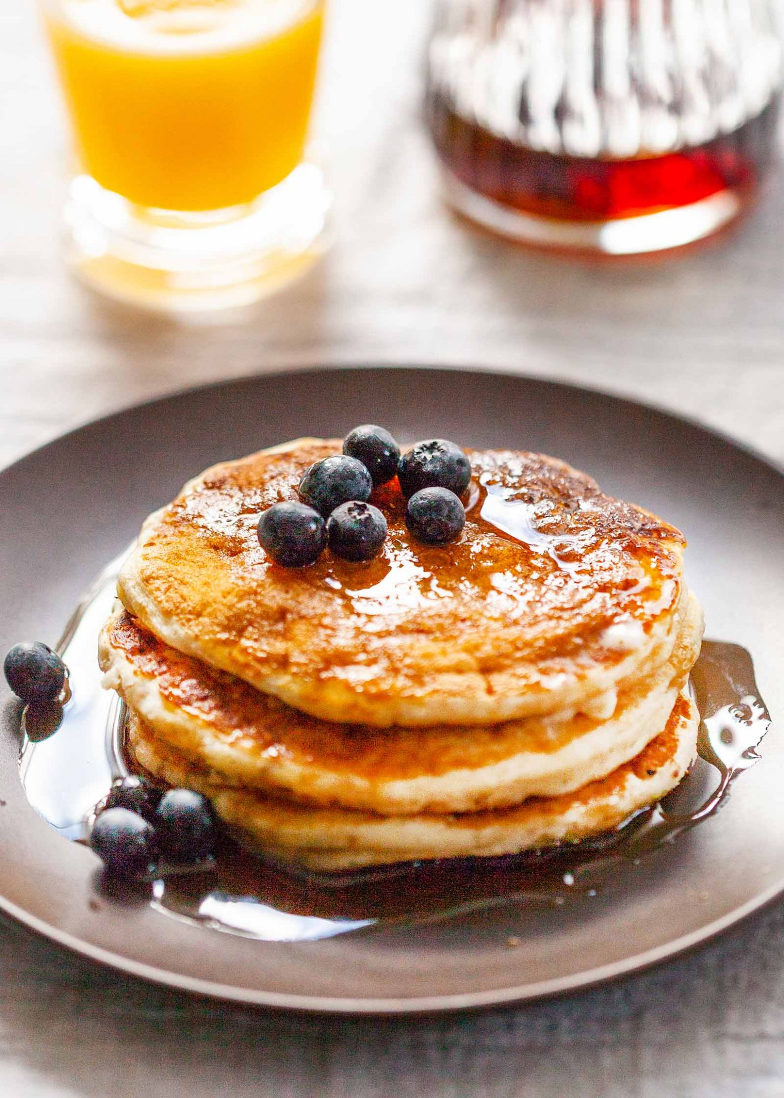 How to Make Fluffy Buttermilk Pancakes - Simple Recipes Pancakes