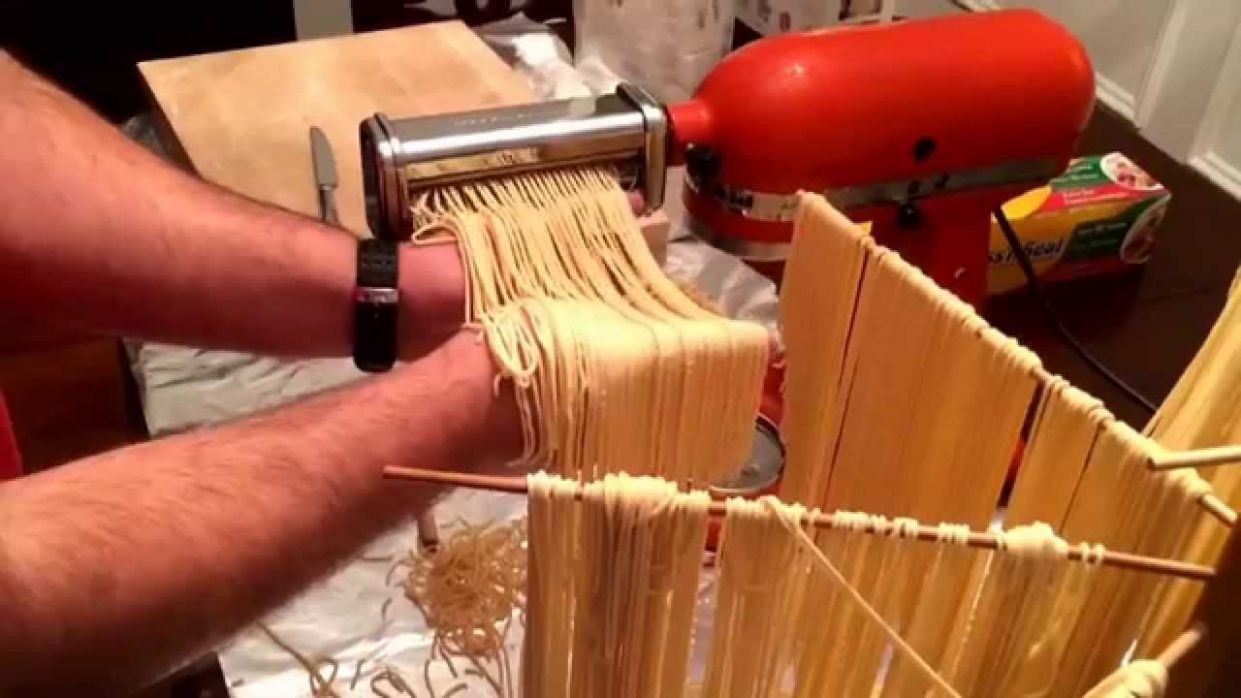 How to make fresh pasta dough with a KitchenAid mixer & pasta attachments - Pasta Recipes Kitchenaid