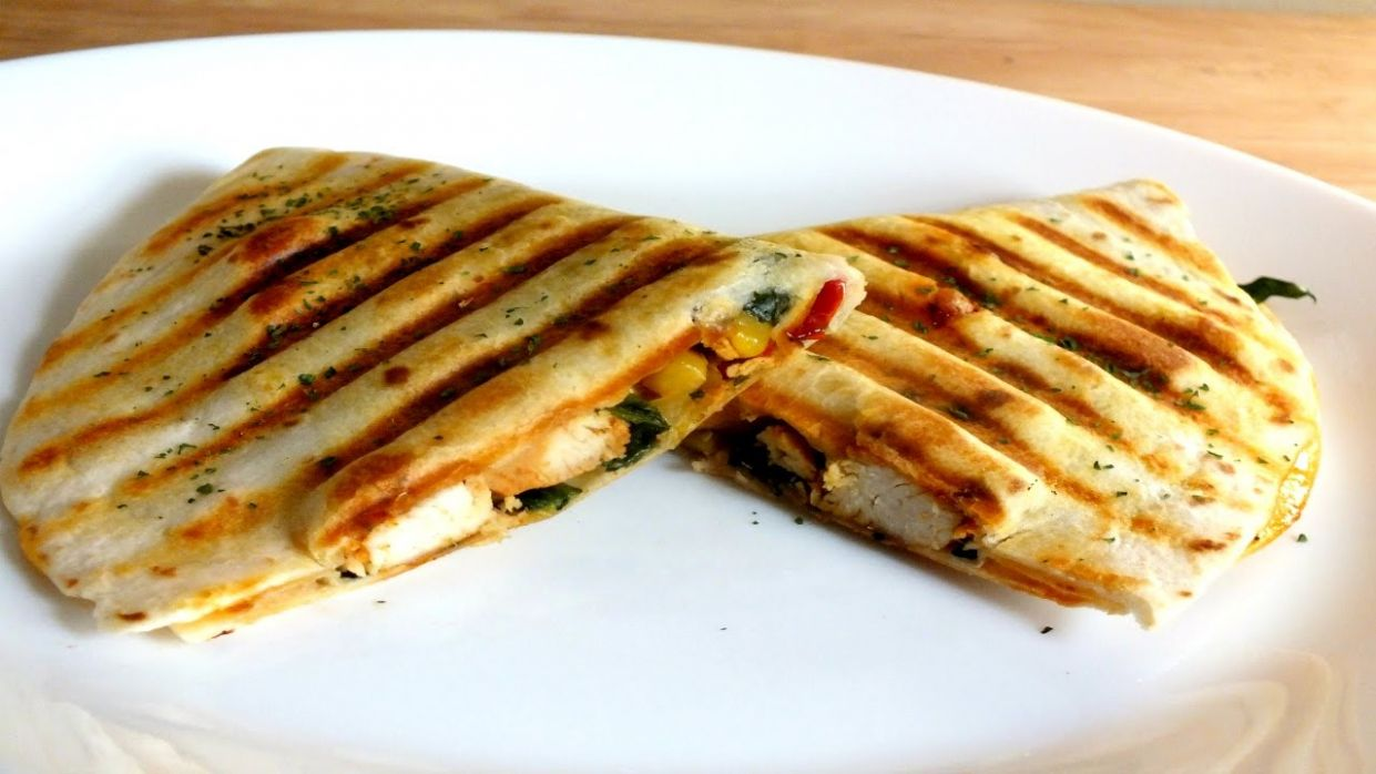 HOW TO MAKE GRILL CHICKEN QUESADILLAS: PANINI MAKER RECIPES - Recipes Sandwich Press
