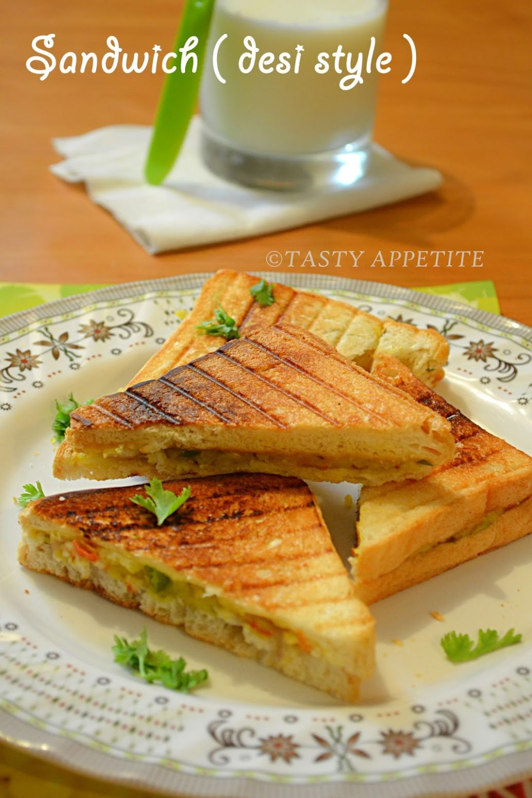 How to make Grilled Masala Sandwich / Indian Style Sandwich / Easy ..
