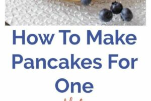 How To Make Pancakes For One