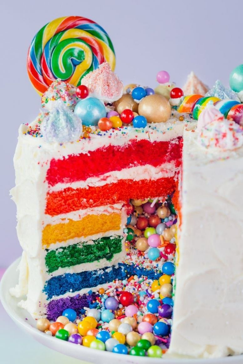 How To Make the Ultimate Rainbow Surprise Cake - Cake Recipes Rainbow