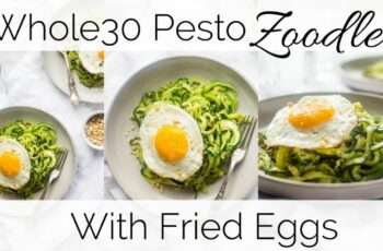 How to Make Whole8 Pesto Zucchini Noodles with Fried Eggs