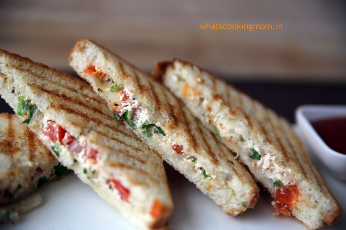 hung curd sandwich - whats cooking mom - Sandwich Recipes For Toddlers Indian