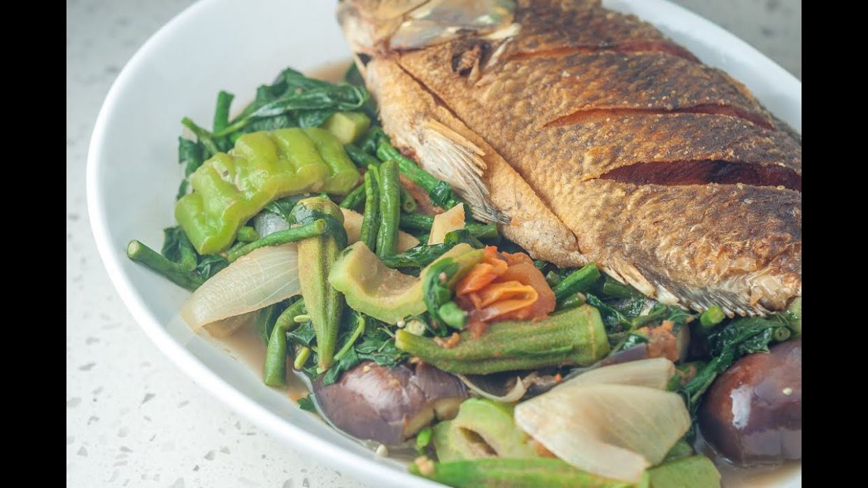 Inabraw Recipe (Boiled Vegetables with Fried Fish) - Recipe Fish Ulam