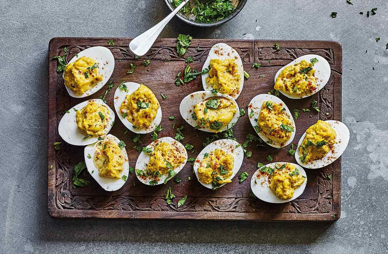 Indian-spiced devilled eggs - Egg Recipes Uk