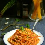 INDIAN STYLE TOMATO SPAGHETTI RECIPE / INDIAN VEGETARIAN SPAGHETTI RECIPE