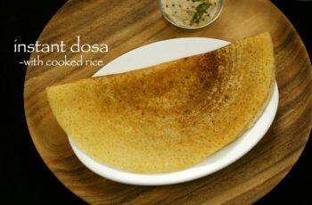 instant dosa recipe with left over rice | instant cooked rice dosa ...