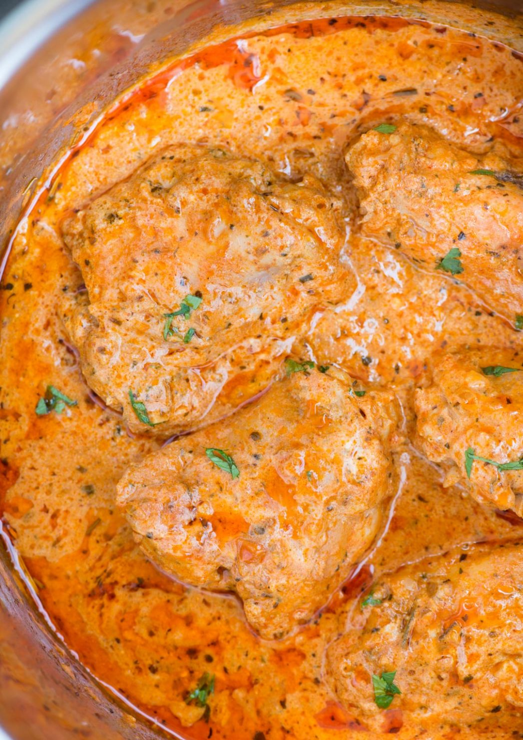 Instant Pot Chicken in Creamy tomato Sauce - Recipes Chicken Thighs Instant Pot