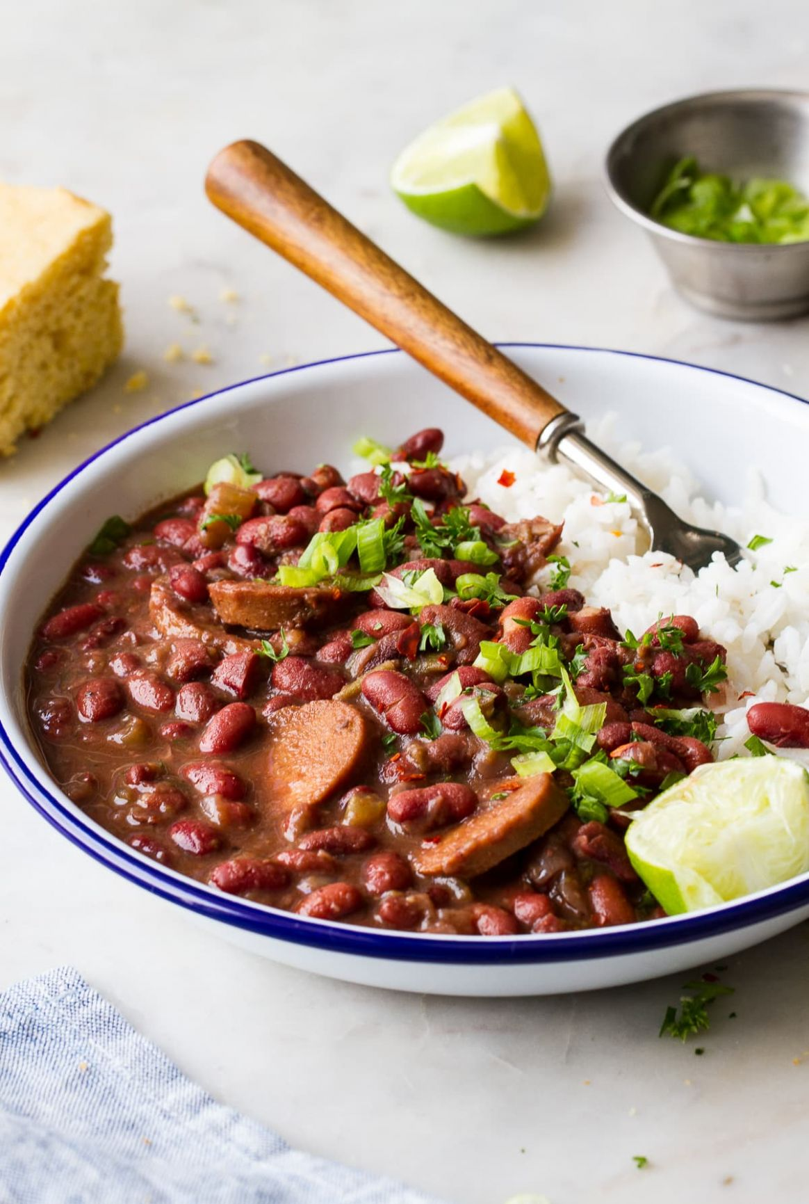 Instant Pot Red Beans and Rice (Vegan) - The Simple Veganista - Recipe Vegetarian Red Beans And Rice