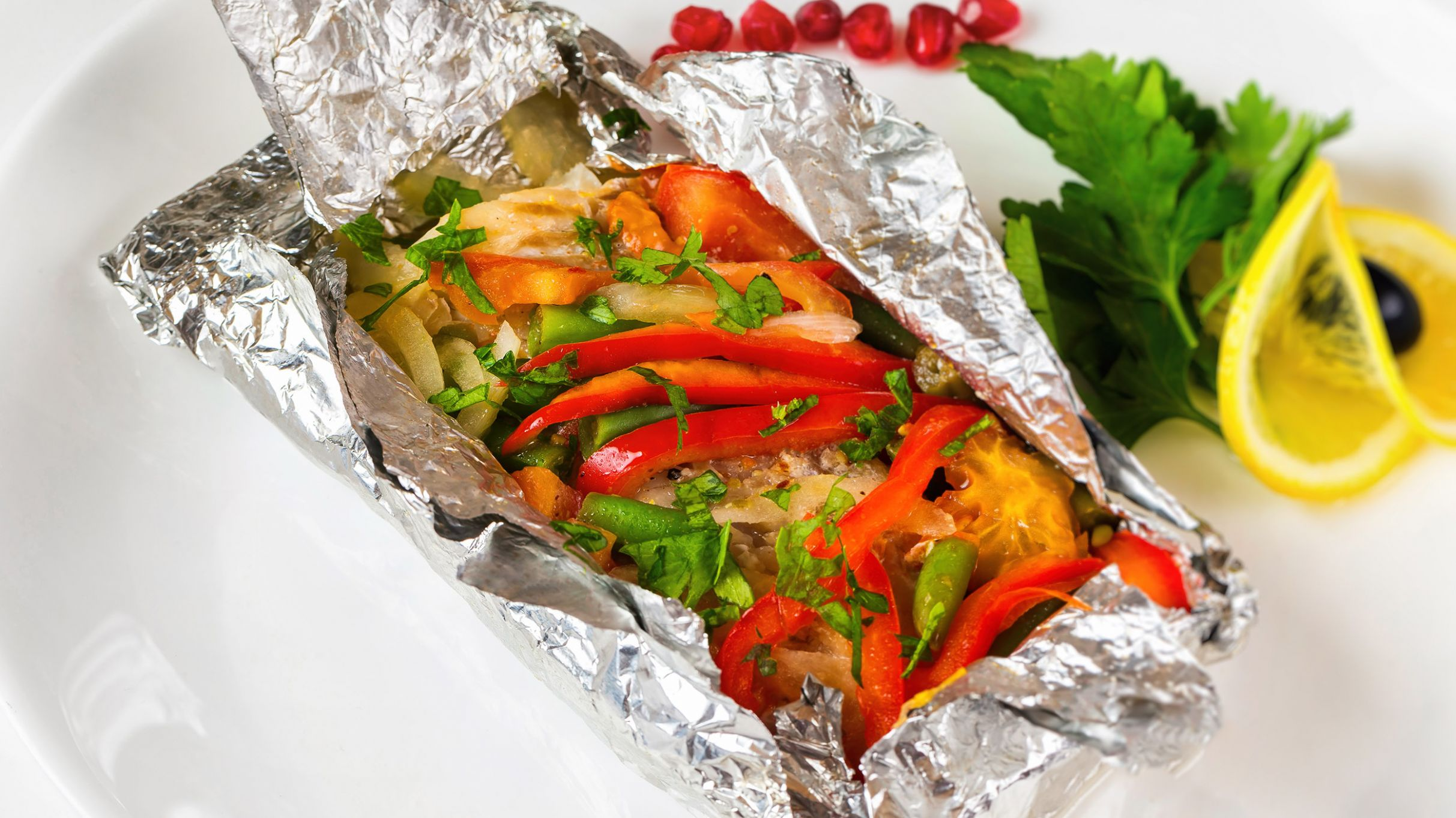 Italian Fish and Veggie Packets - Recipes Fish In Foil Packets