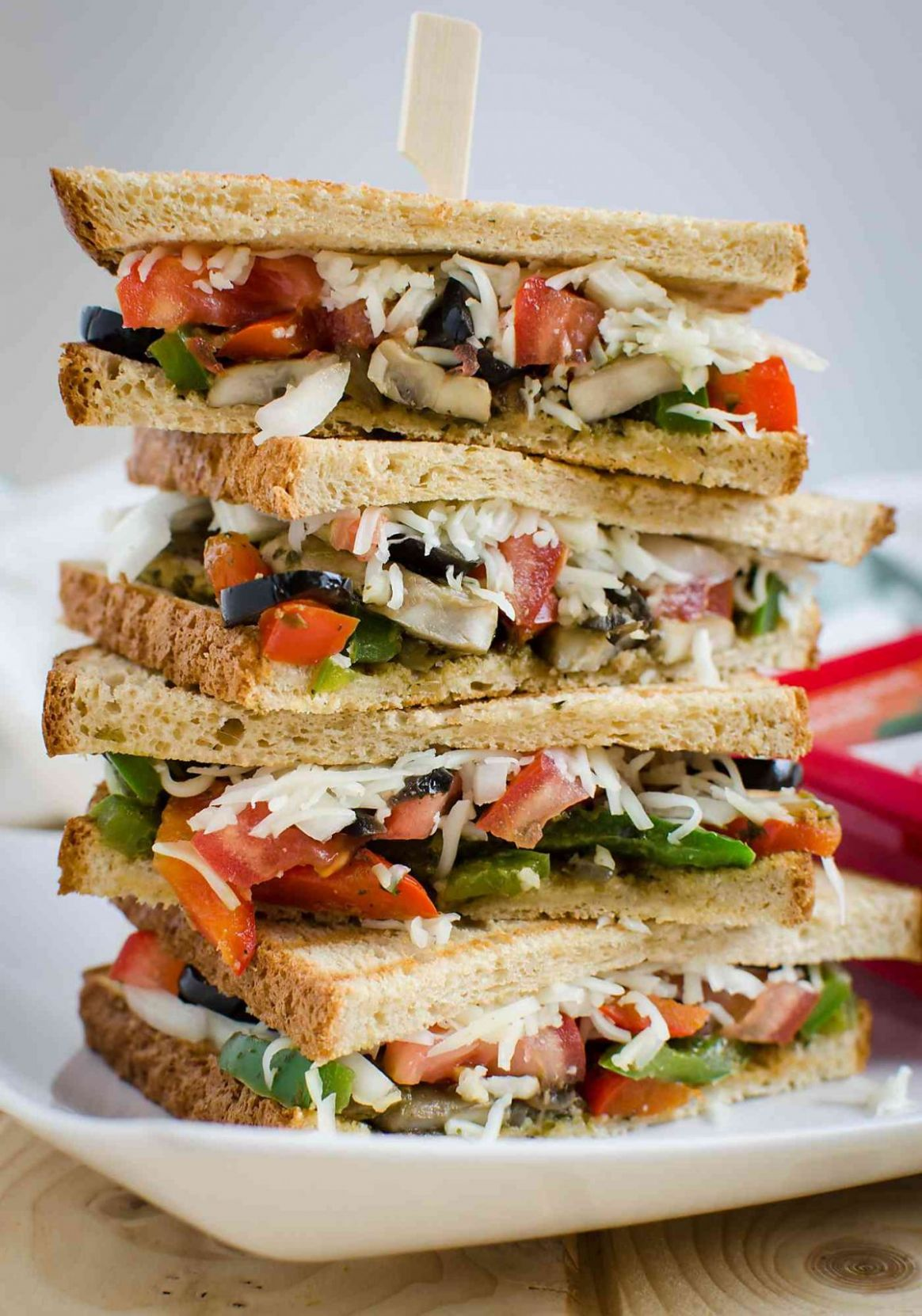 Italian Flavored Veggie Sandwich Recipe - Sandwich Recipes Easy Healthy