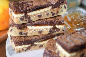 Jaffa Cake Slutty Brownies Recipe - Katiecakes