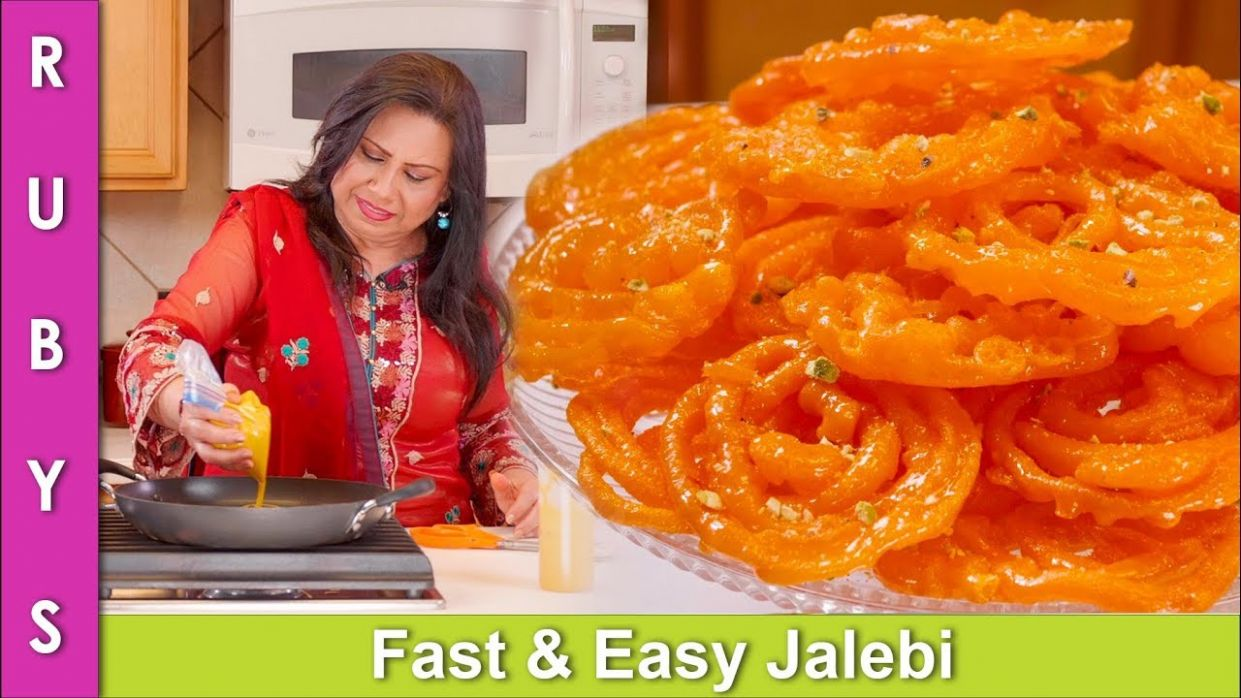 Jalebi Homemade Mithai Fast Easy Recipe in Urdu Hindi - RKK - Recipes In Urdu Youtube