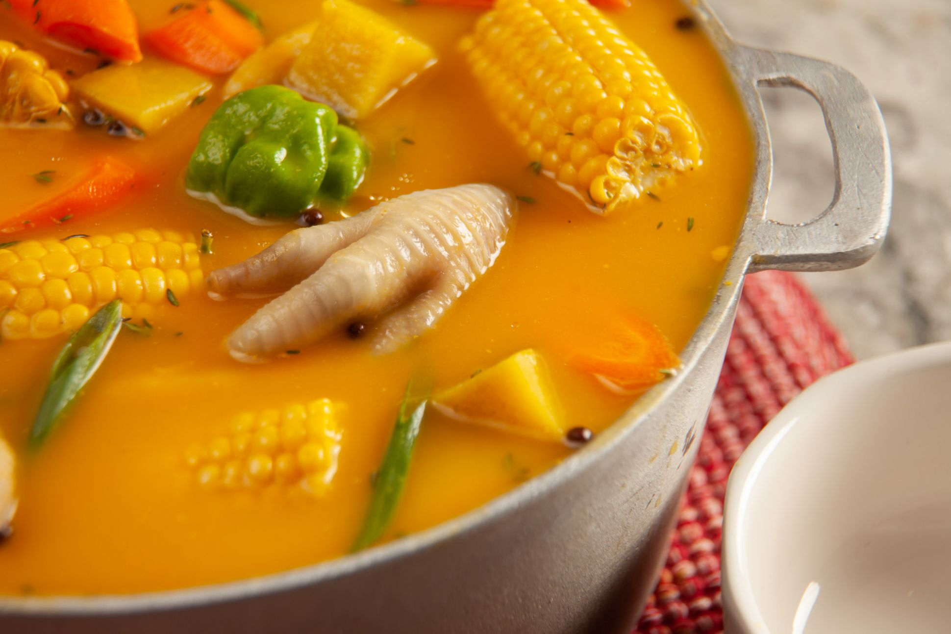 Jamaican Chicken Foot Pumpkin Soup - Soup Recipes Jamaican