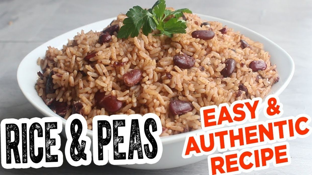 Jamaican RICE & PEAS - MOST Delicious EASY & authentic recipe - Recipes Rice And Peas