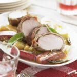 Jamie Oliver's Marinated Pork Fillet Roasted On Rhubarb – Pork Recipes Jamie