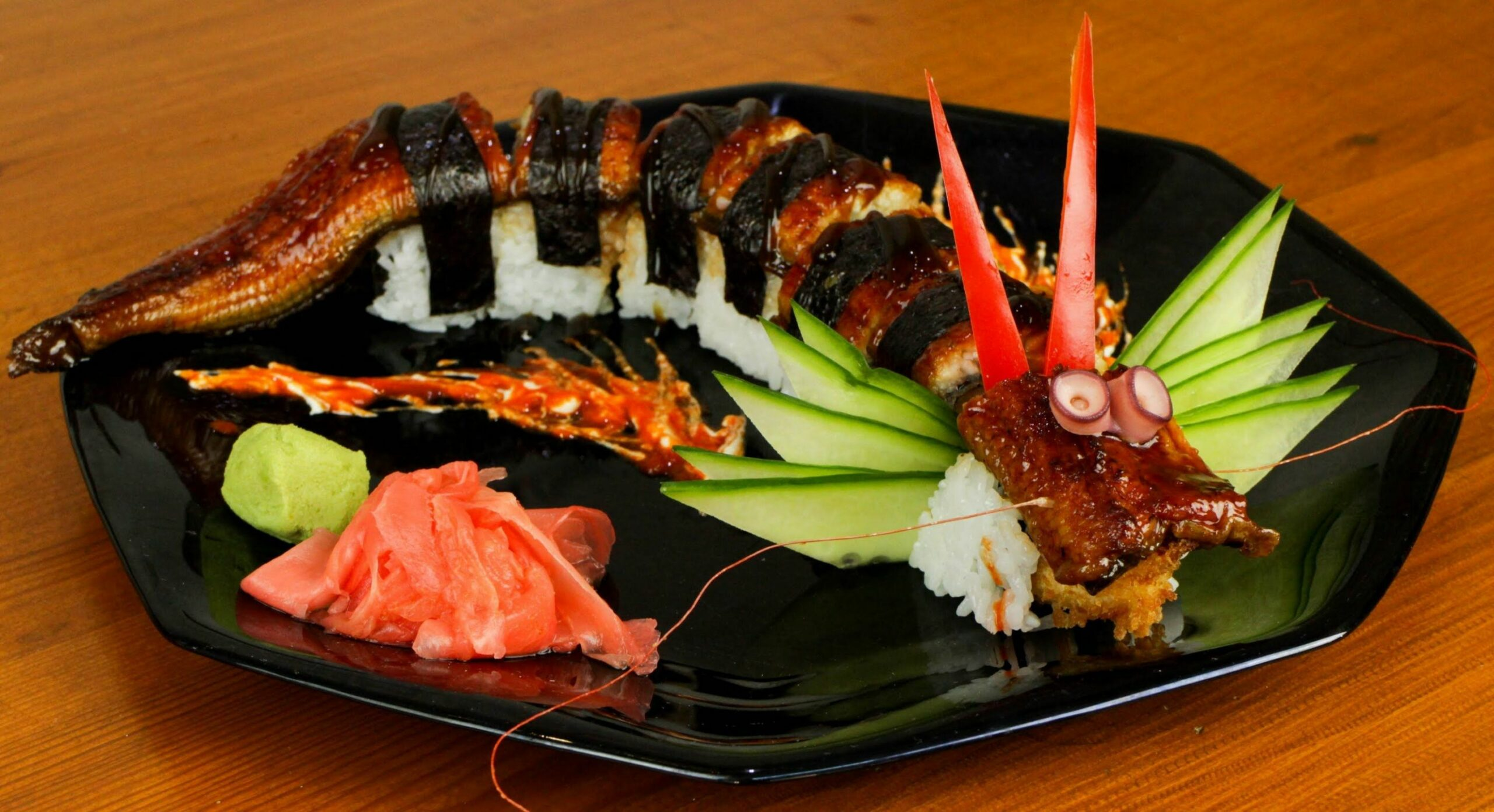 Japanese food recipies | Dragon Sushi Roll Recipe - Japanese Food ...