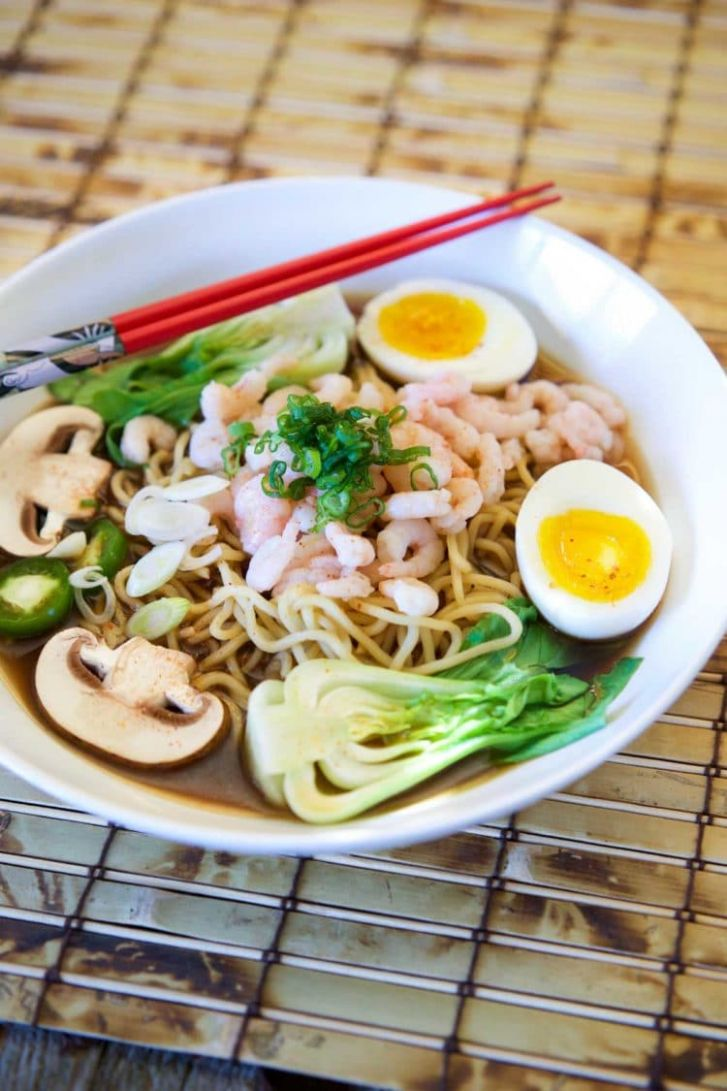 Japanese Shrimp Ramen in Miso Beef Broth - Soup Recipes Japanese Beef