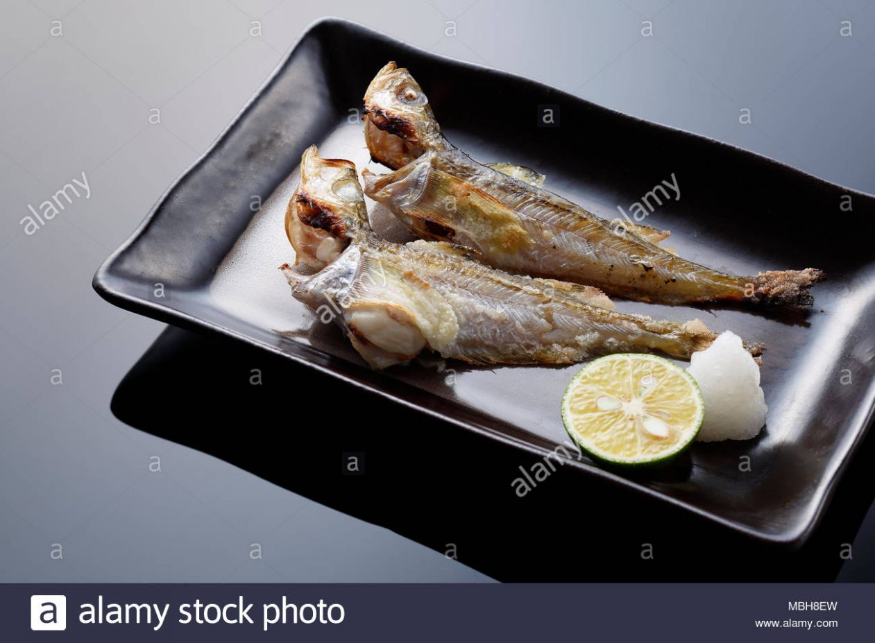 Japanese style grilled fish Stock Photo: 9 - Alamy - Fish Recipes Japanese Style