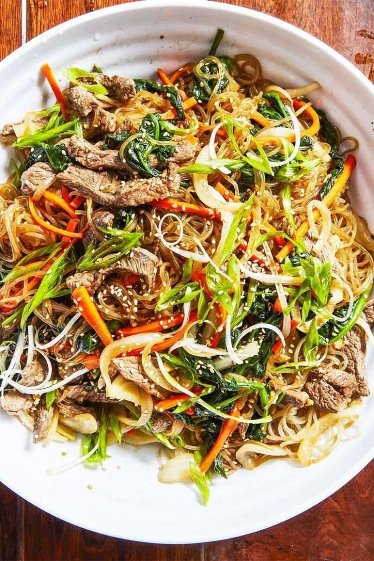 Japchae Is the Beef and Veggie-Filled Korean Dish of Dreams - Food Recipes Korean