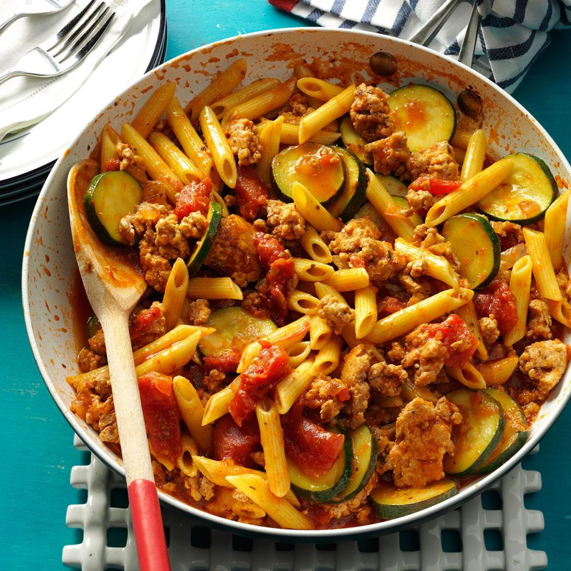 Jiffy Ground Pork Skillet