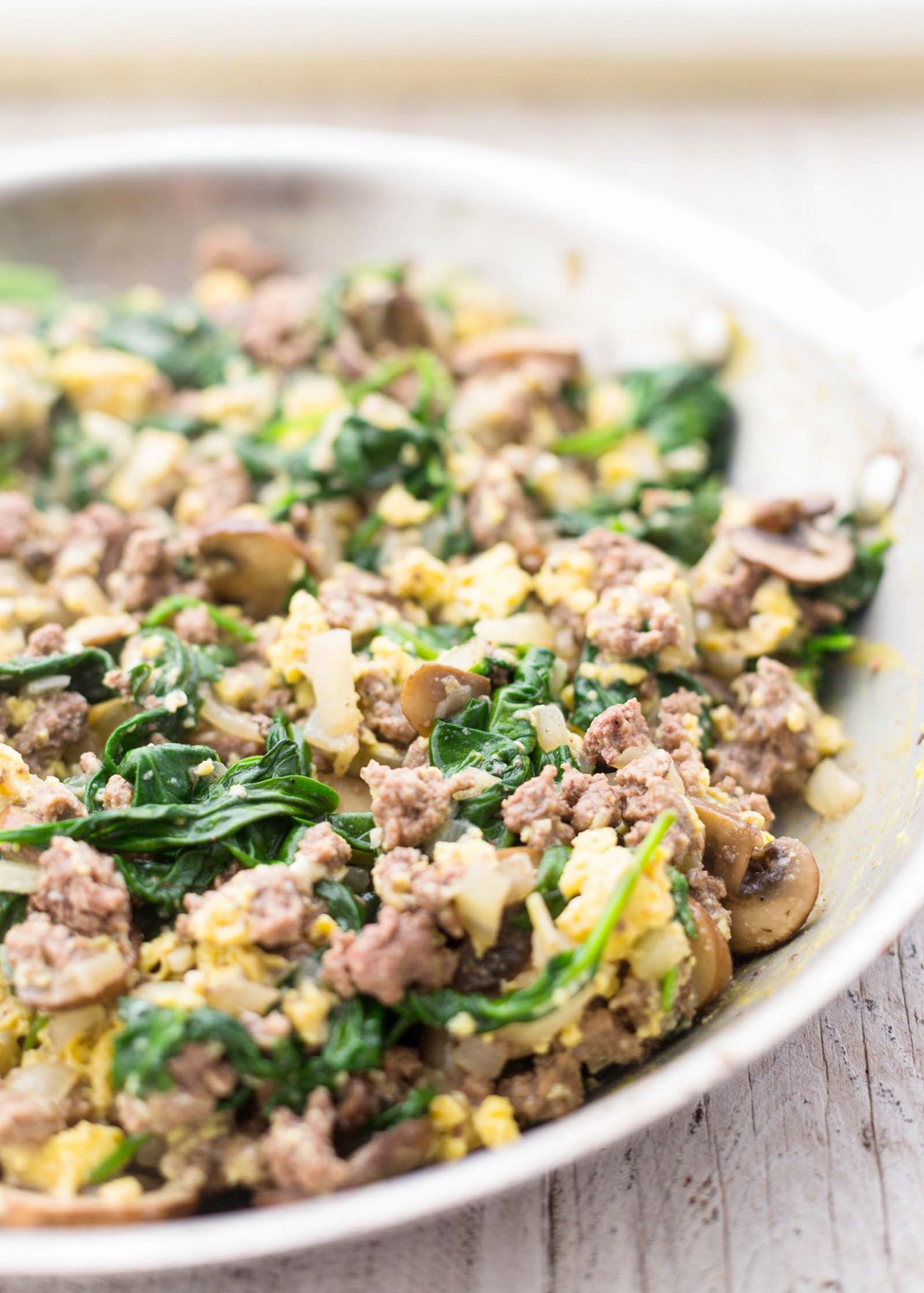 Joe's Special (Scrambled Eggs with Spinach, Beef, and Mushrooms) - Recipe Egg Ground Beef