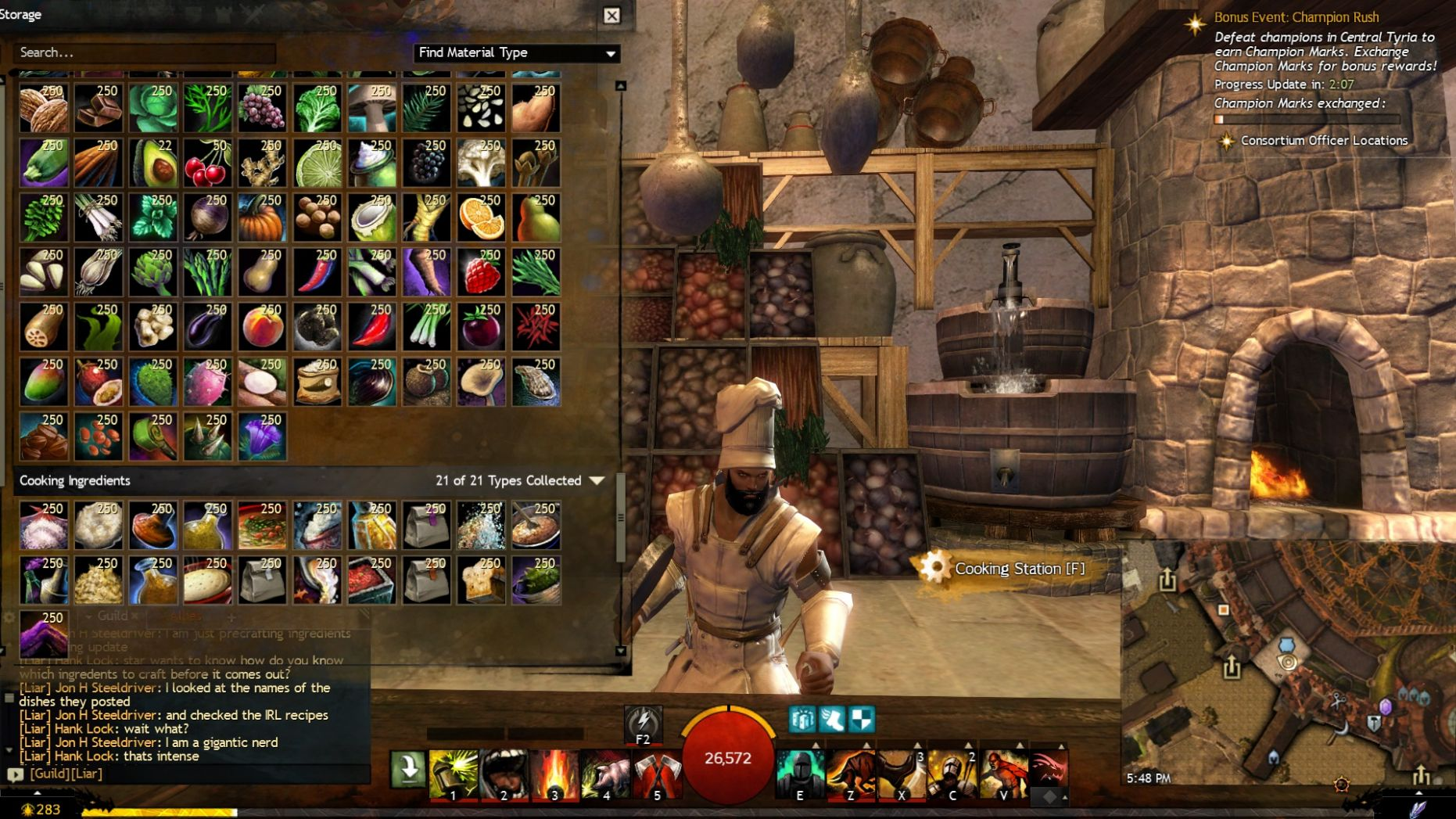 Just getting ready for ascended cooking — Guild Wars 10 Forums - Food Recipes Gw2