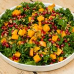Kale Salad With Roasted Butternut Squash, Pomegranate, And Pumpkin Seeds – Salad Recipes For Thanksgiving