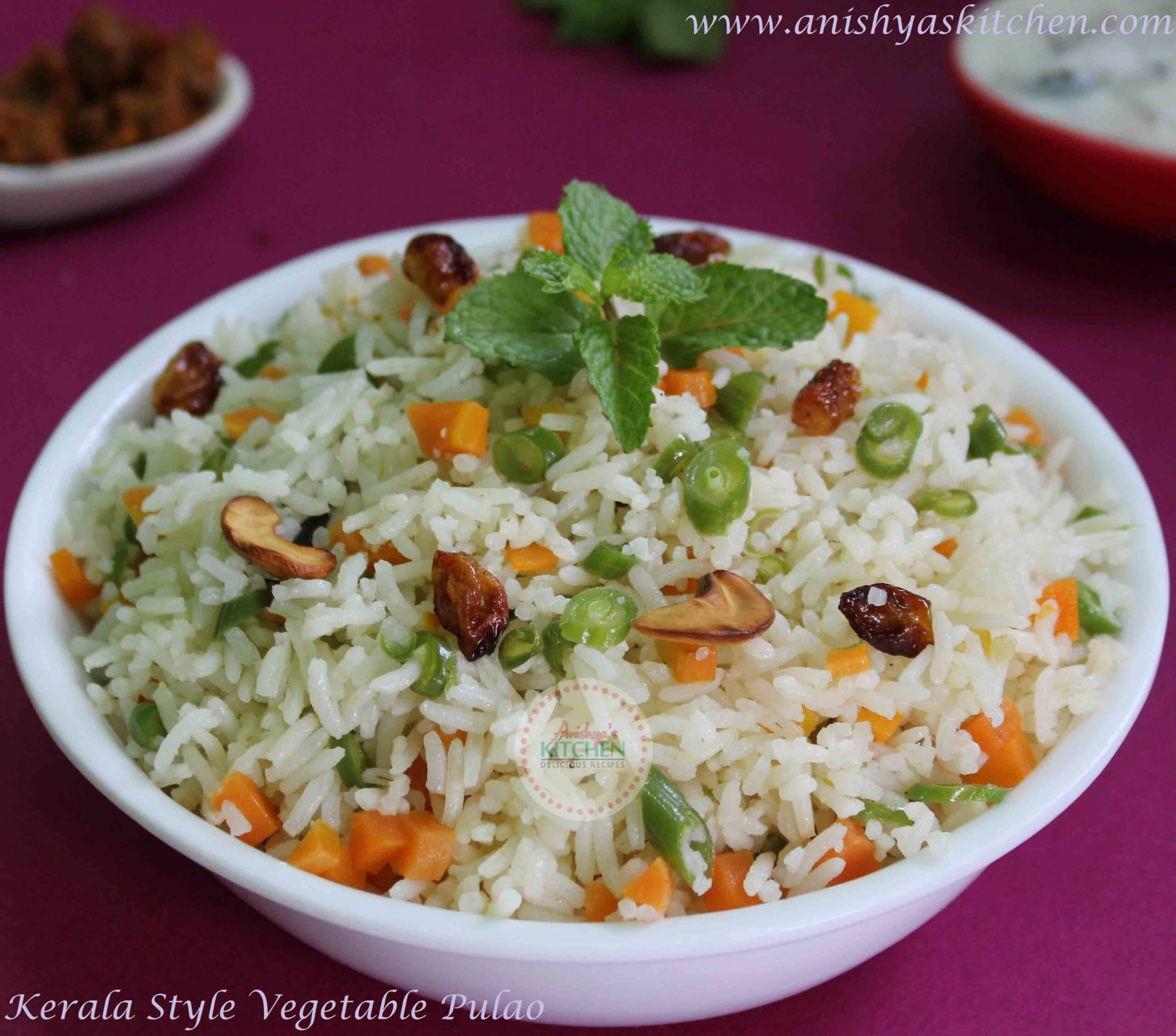 Kerala Style Vegetable Pulao | Pulavu Recipe - Recipes Rice For Pulao