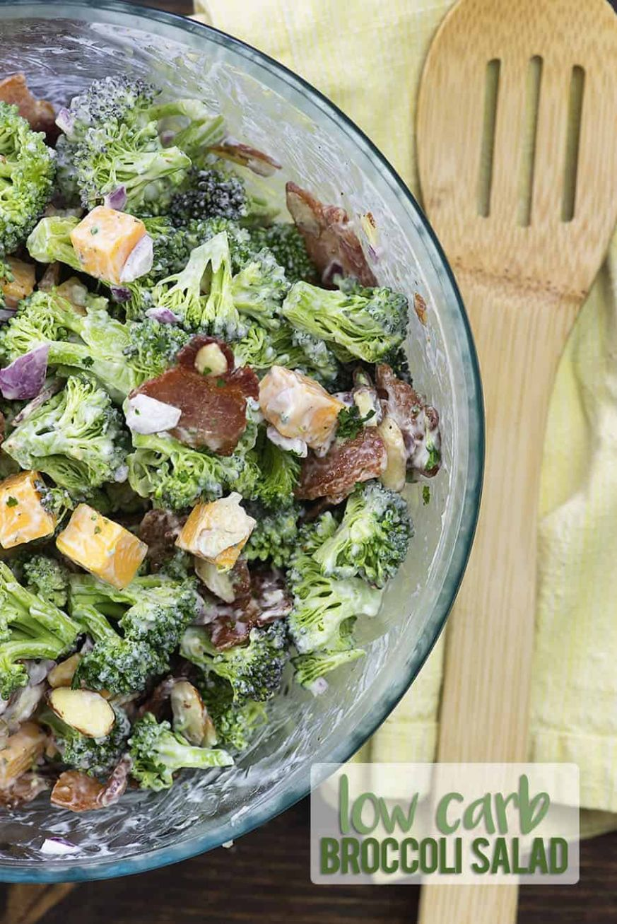 Keto Broccoli Salad Recipe with Bacon & Cheddar! - Broccoli Salad Recipes Za