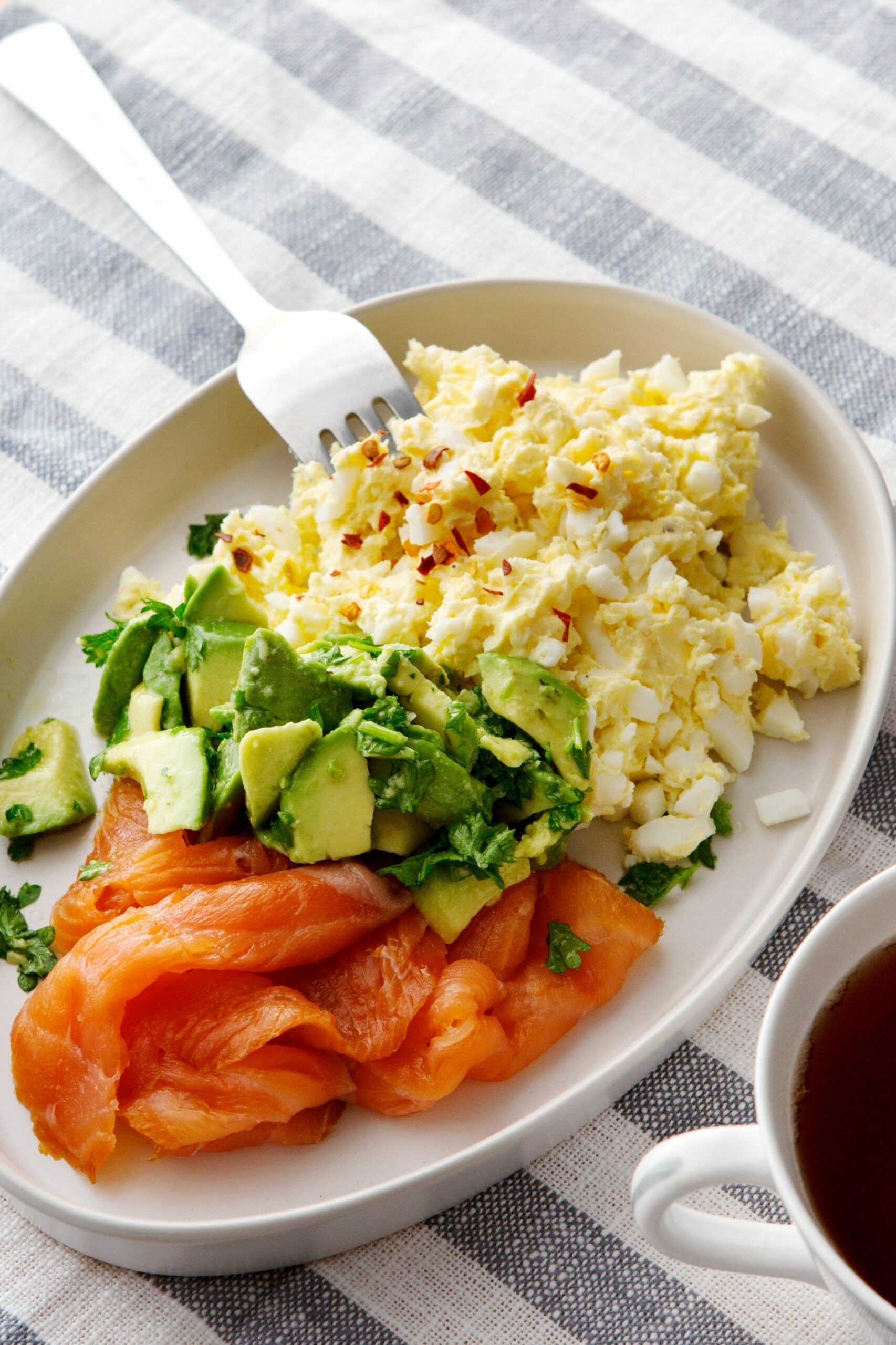 Keto egg butter with smoked salmon and avocado - Egg Recipes Low Carb