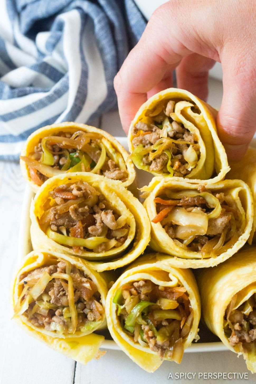 Keto Egg Roll Wrap Recipe (Video) - A Spicy Perspective - Recipes Using Egg Roll Wrappers