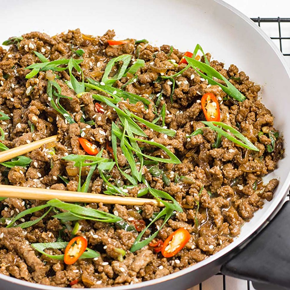 Keto Ground Beef Recipe - Sticky Korean Stir Fry - Dinner Recipes Mince