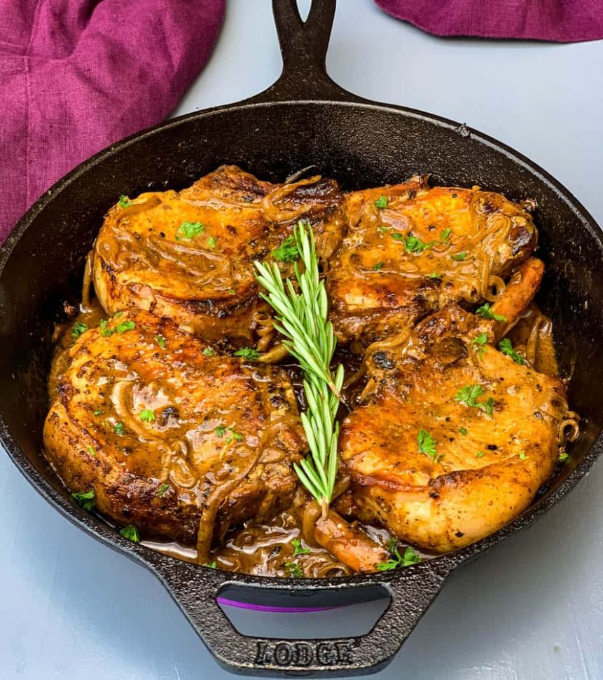 Keto Low-Carb Smothered Pork Chops