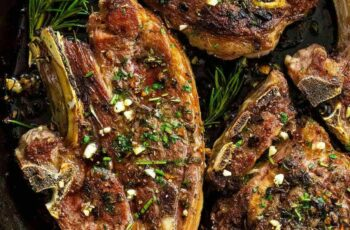 Lamb Chops with Garlic & Herbs - Jessica Gavin